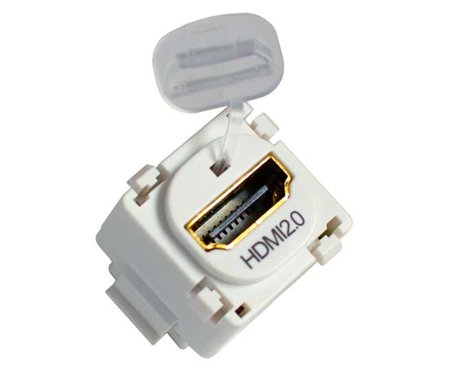 1.4 and 2.0 compatible HDMI keystone coupler